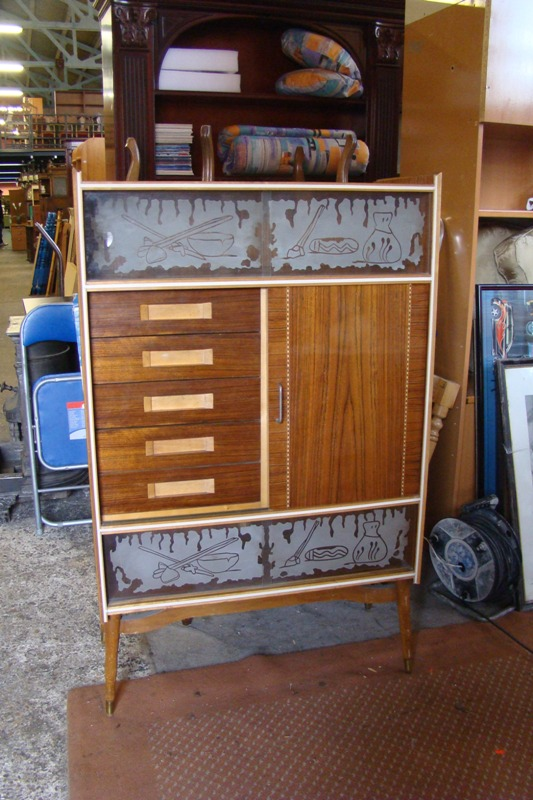 Original mueble bar a os 50 la manera rosa - Mueble anos 50 ...