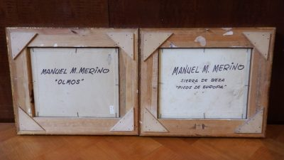 PAREJA DE ÓLEOS MANUEL M. MERINO.